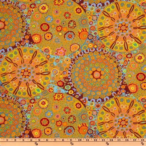 Kaffe Fassett Home Decor Fabric by Kaffe Fassett Millefiore Orange Discount Designer Fabric