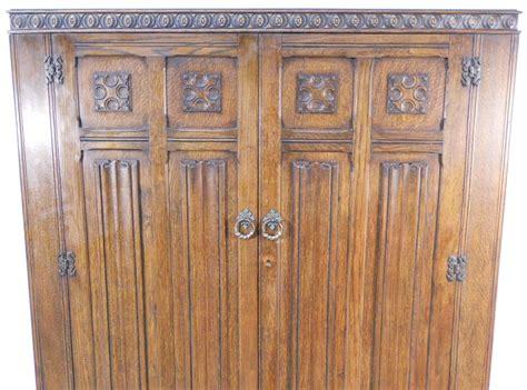 Antique Oak Wardrobe For Sale by Wardrobe Large Antique Style Carved Oak Two Door Panelled