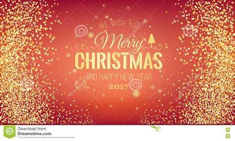 kerstmis  en typografisch nieuwjaar op rode achtergrond met gouden vuurwerk de kaart van
