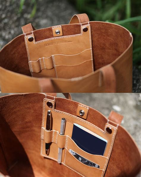 Leather Handmade - handmade leather tote bag made to order