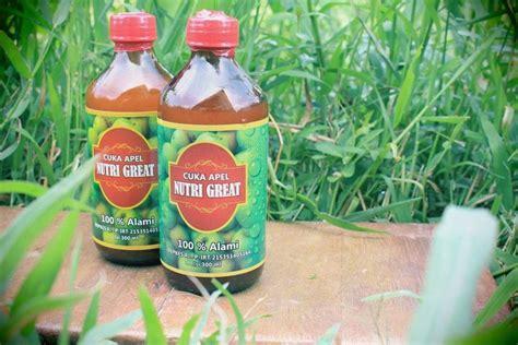 Suplier Cuka Apel Nutri Great jual cuka apel nutri great 100 alami halal spirit of