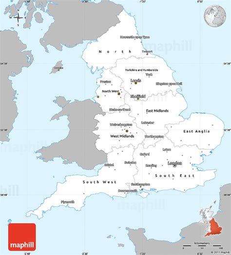 Kintakun Singel United Kingdom gray simple map of single color outside