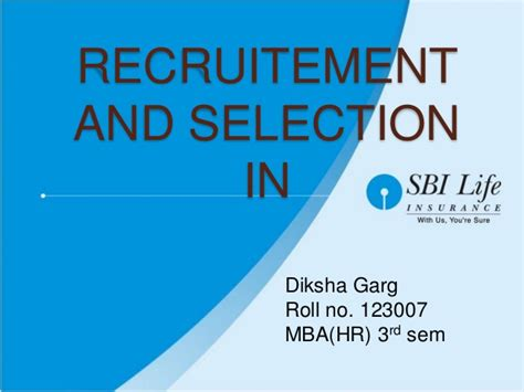 Sbi Internship For Mba by R S In Sbi Insurance
