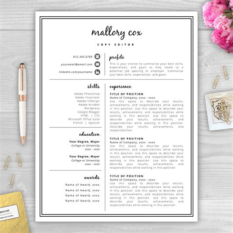 Best Font For Artist Resume by Resume Icons Resume Design Resume Template Word Resume