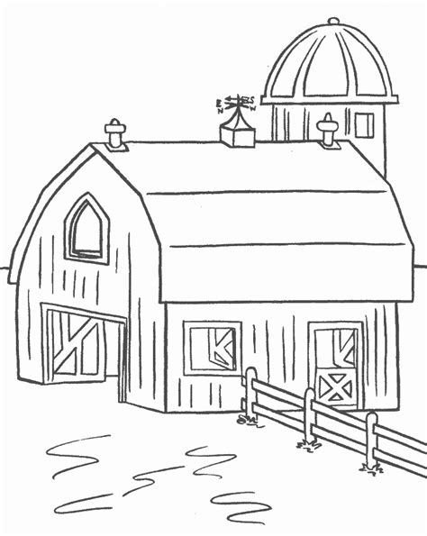 farm house coloring pages kids world