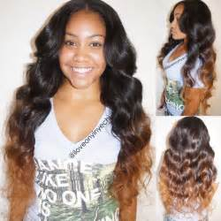 center part weave hairstyles full sew in weave with middle part short hairstyle 2013
