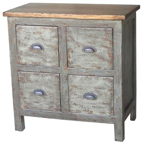 Farmhouse Bedside Table by Checkers 4 Drawer Side Table Farmhouse Nightstands And