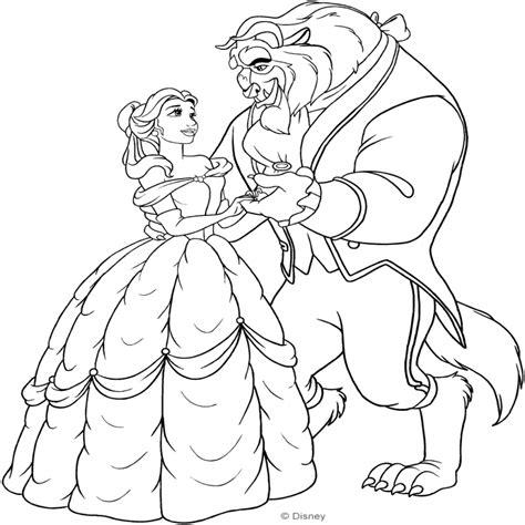 e la bestia immagini disegno di e la bestia che ballano da colorare