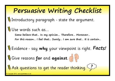 How To Write An Persuasive Essay by Persuasive Writing