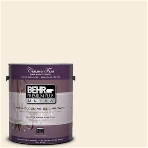 behr premium plus ultra 1 gal ppu5 10 ceiling tinted to heavy interior paint 555801