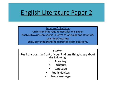 studio aqa gcse 2017 vocab grammar test with aqa english literature paper 2 unseen poetry practice by sae5 teaching resources tes