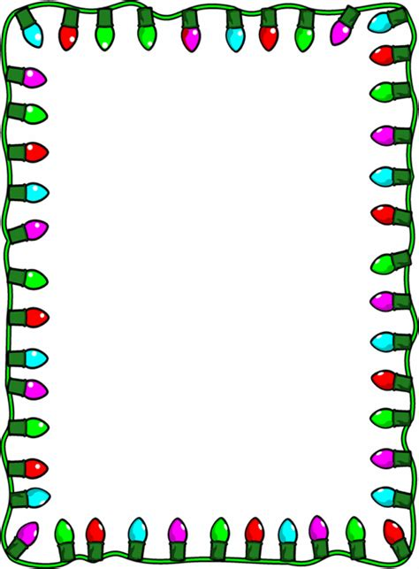 christmas light border clip art free