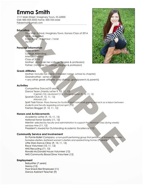 Sorority Resume Template by Sorority Resume Exles Resume Ideas