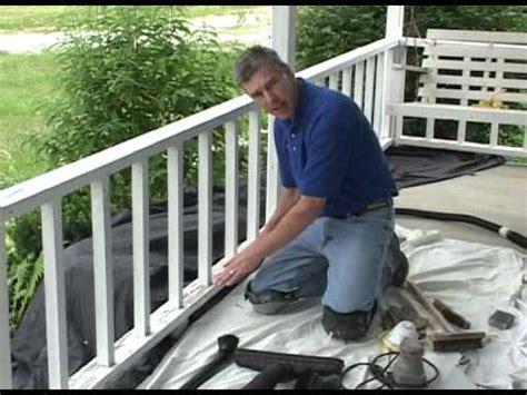 preparation  painting porch railing step  youtube