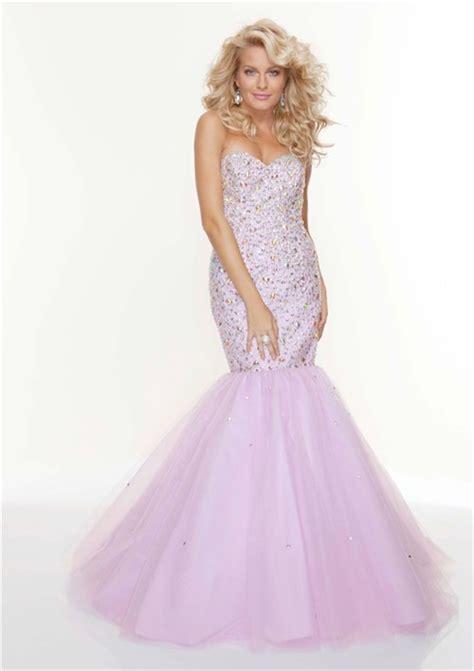 trumpetmermaid sweetheart long fishtail lilac beaded prom dress