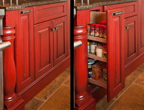 rustic red kitchen cabinets rustic log home rustic kitchen other by mullet cabinet