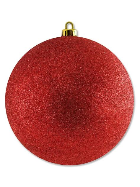 large glittered red bauble decoration 20cm large decor