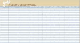 excel template for wedding guest list wedding guest list template new calendar template site