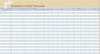 Excel Guest List Template Gallery For Gt Printable Guest List Template