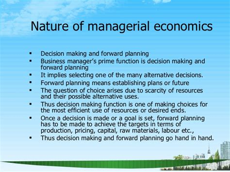 Managerial Economics For Mba Students by Managerial Economics Scope Ppt Mba 2009