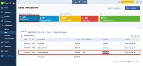 create estimates and quotes in quickbooks