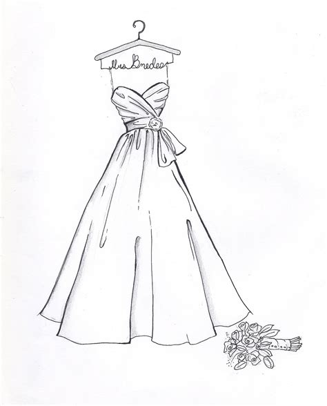 simple dress coloring page item details