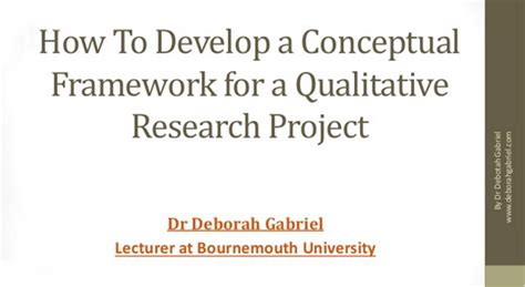 How To Make A Conceptual Framework In Research Paper - using conceptual frameworks in qualitative research dr