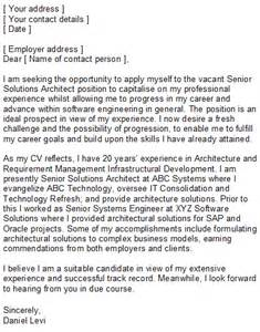 software engineering covering letter sle