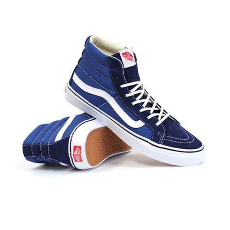 Vans Sk8 Hi Navy vans sk8 hi slim navy true white s shoes