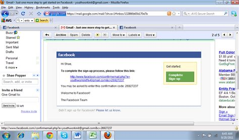 email fb how to set up a facebook or twitter account step by step