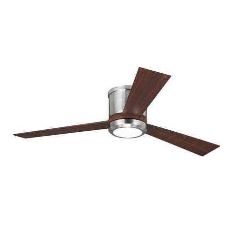 monte carlo clarity fan monte carlo clarity 52 in brushed steel ceiling fan