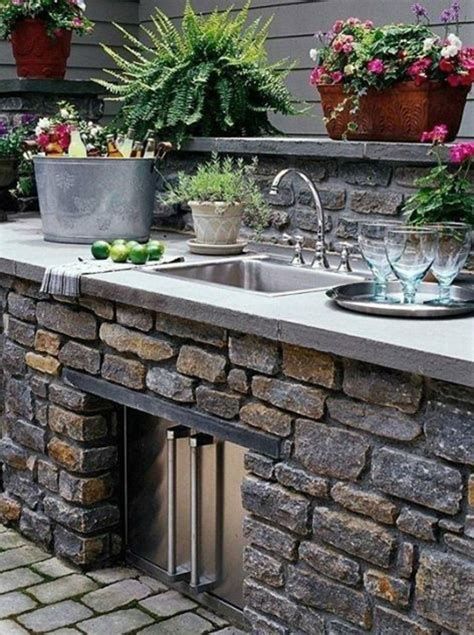 outdoor küche backsplash ideen k 252 che naturstein outdoor