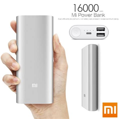 Power Bank Mi Lazada for sale sealed mi power bank 16000mah silver