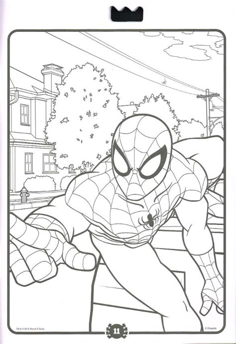 marvel giant coloring pages spiderfan org comics marvel color activity crayola