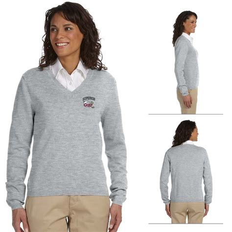 The Executive Sweater jones d475w v neck sweater embroidered logo jones v neck sweaters