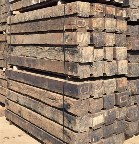 Sleepers Cut To Size by Used Oak Creosoted Railway Sleepers
