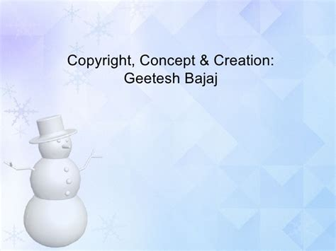 snowman powerpoint template