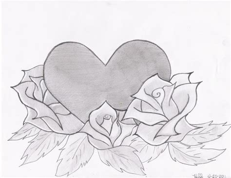 drawing of heart cliparts co