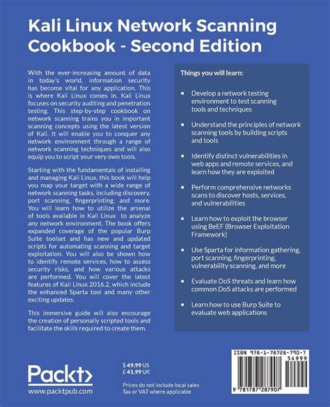 kali linux tutorial book books kali linux network scanning cookbook 2e 2017