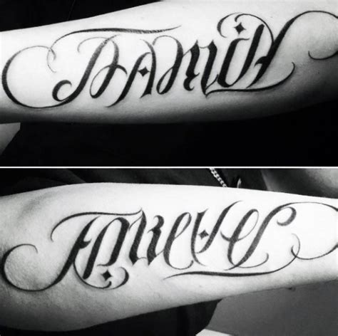 family forever tattoo designs 40 ambigram tattoos for word designs
