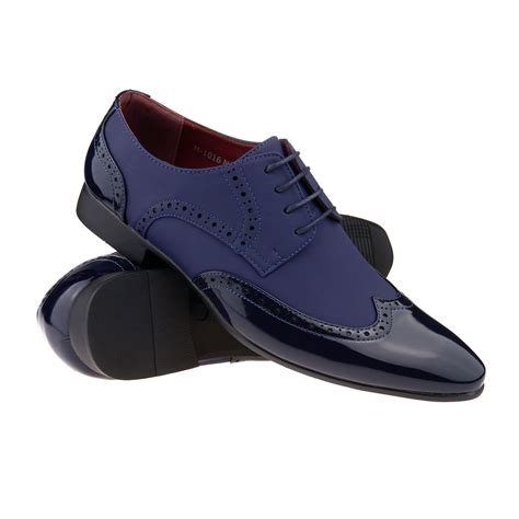 spats shoes new mens two tone gangster patent leather brogues wingtip