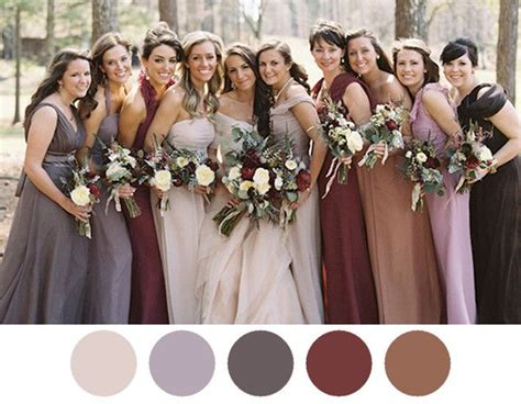 bridesmaid dress colors 5 bridesmaid dress color combos that look gorgeous