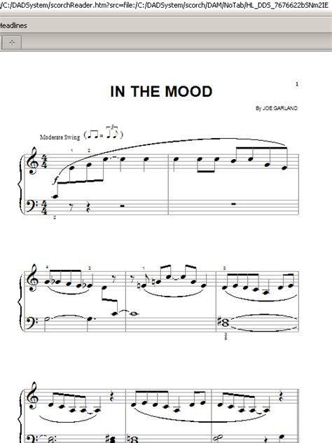 tutorial piano in the mood in the mood sheet music by glenn miller his orchestra