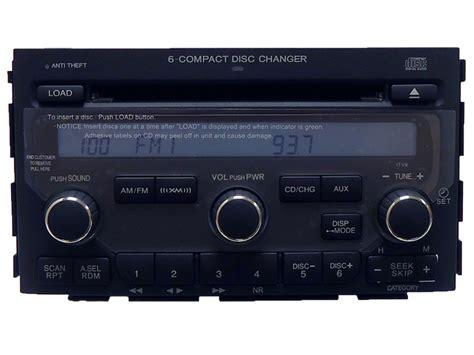 honda pilot radio xm satellite aux  disc cd changer tv ebay