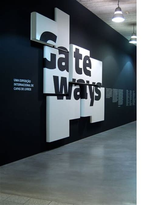 graphics design exhibitions layered entry sinage exhibition design pinterest