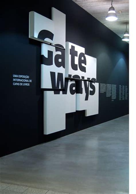 Design Art Signs | layered entry sinage exhibition design pinterest