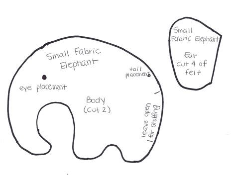 sewing pattern elephant free sewing pattern let s go crafting
