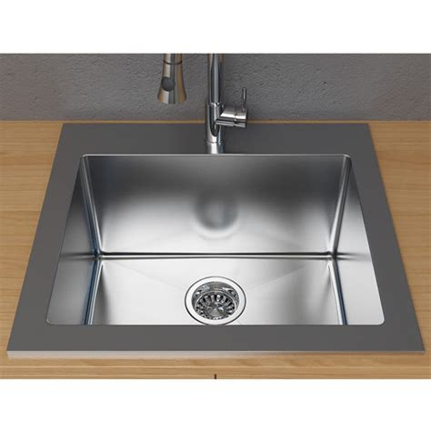 cantrio koncepts  single basin topmount laundry