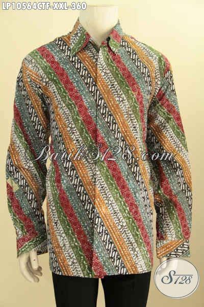Kemeja Batik Lengan Panjang Bigsize baju batik motif parang klasik big size l3 pakaian batik