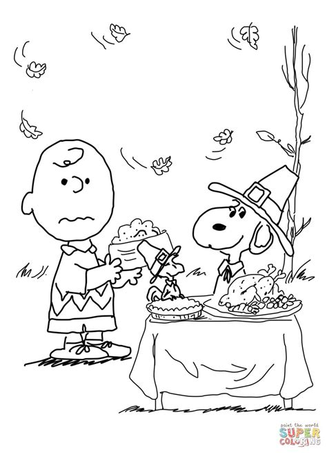 brown thanksgiving coloring pages brown thanksgiving coloring page from peanuts